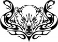 Tribal Bear Sticker Decals 28