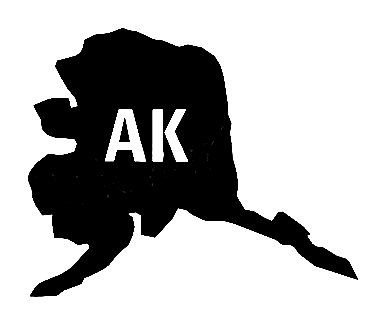 Ak Us State Shape Vinyl Decal Us State Silhouette Decal