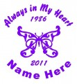 Girl Butterfly Circle Memory Decals