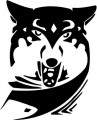 Tribal Wolf Sticker 37