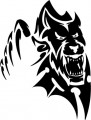 Tribal Wolf Sticker 13
