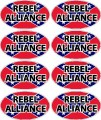 confederate flag oval REBEL ALLIANCE decals - 8 total