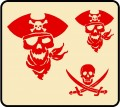 Pirate Skull Wall Graphic Kit