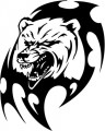 Tribal Bear Sticker Decals 10