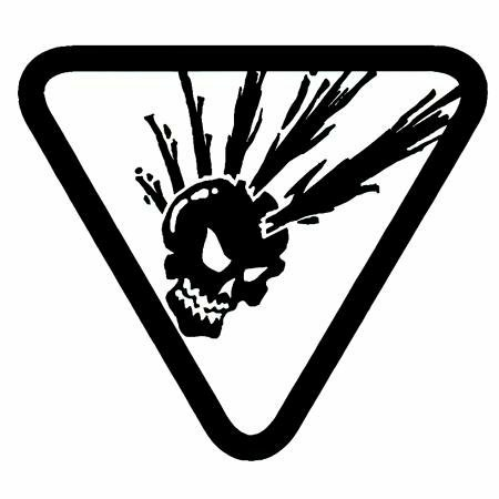 Hip Mohawk Skull In Triangle Decal Custom Wall Graphics