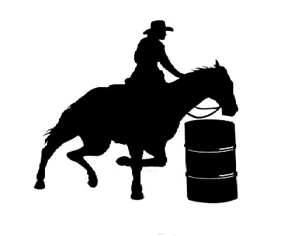 Barrel Racing Logos Horse barrel racer wall decal