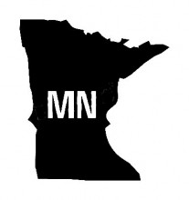 Mn Us State Shape Vinyl Decal Us State Silhouette Decal