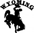 Cowboy Wyoming Decal