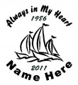 Boater Circle Memory Decals