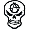 Anarchy Skull Vinyl Decal