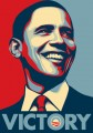 Barack Obama Victory Sticker