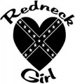 Redneck Love Rebel Flag Girl Die Cut Decal