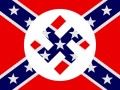 Confederate Nazi Flag Sticker