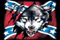Wolf and Rebel Flag Sticker