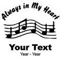 Musician Always in My Heart Decals