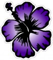 PURPLE HIBISCUS FLOWER STICKER