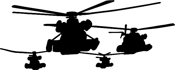 Military Silhouette Decals 2 Custom Wall Graphics