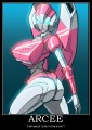 Arcee Autobot Fembot Transformer Rectangular Decal
