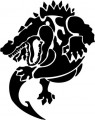 Tribal Alligator Decal Stickers 09