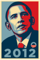 Barack Obama 2012 Sticker