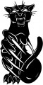 Tribal Cat Sticker Decals 01
