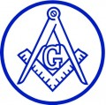 Masonic Blue Circular Decal
