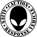 Alien Response Vehicle Circle Diecut Decal