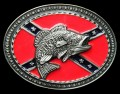 bass fish ass rebel belt buckle design sticker