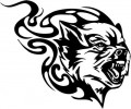 Tribal Wolf Sticker 33