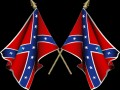 MARCHING REBEL FLAGS
