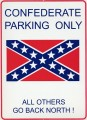 confederate parking only sticker