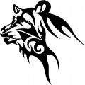 Tribal Tiger Stickers 03