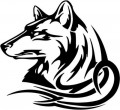 Tribal Wolf Sticker 44