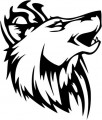 Tribal Wolf Sticker 48