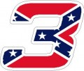 3 confederate nascar sticker