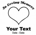 Heart Memory Decal