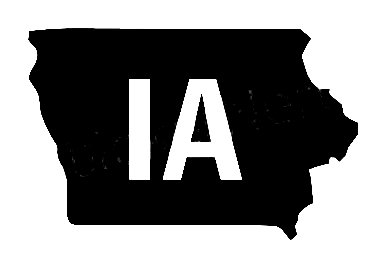 Ia Us State Shape Vinyl Decal Us State Silhouette Decal