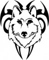 Tribal Wolf Sticker 46