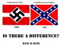 Nazi and Confederates difference sticker