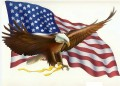 USA Flag with Eagle Sticker 88