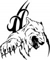 Tribal Bear Sticker Decals 16