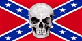 skull with rebel flag sticker 33
