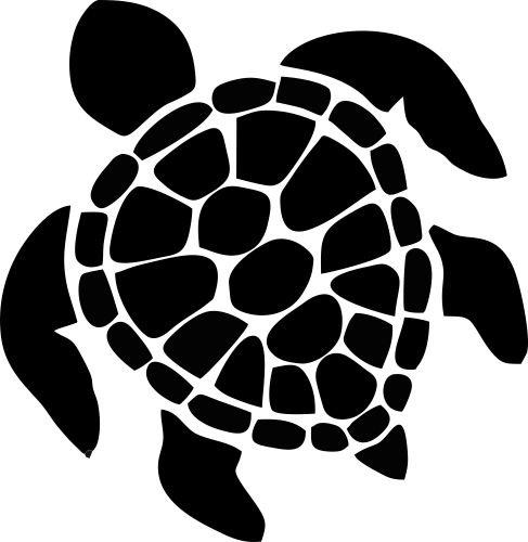Sea Turtle Vinyl Sticker 5 - Custom Wall Graphics