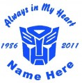 Boy Autobot Circle Memory Decals