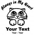 Cat Always in My Heart Decals