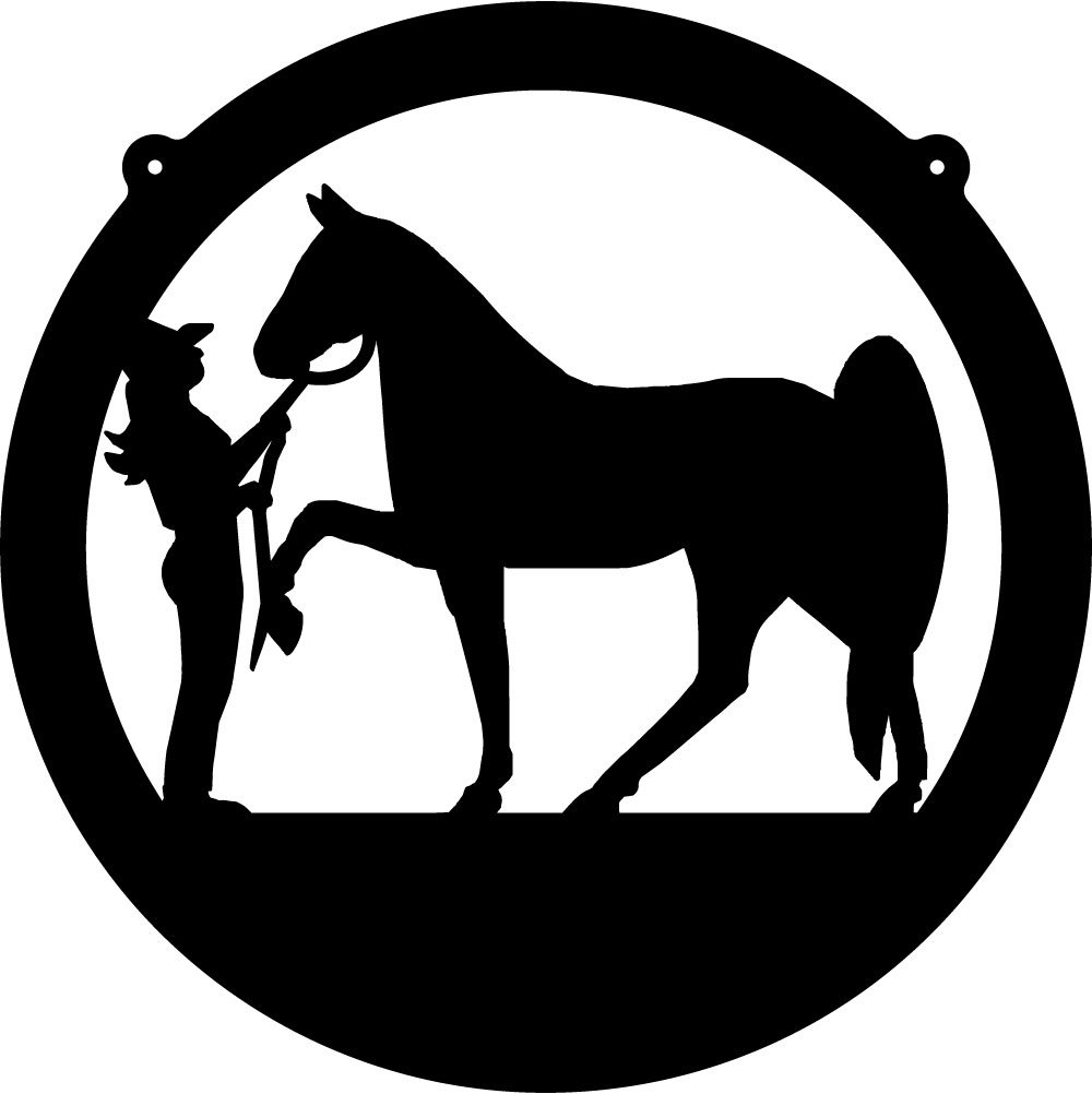 Cowgirl Amp Horse Circle Decal 2 Custom Wall Graphics