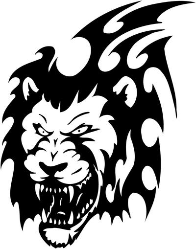 Tribal Lion Stickers 09, tribal animals decal, tribal ...