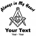 Masonic Always in My Heart Decals