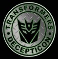 1 BADGE DECAL Diamond Plate Decepticon