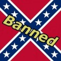 battle flag banned REBEL FLAG sticker